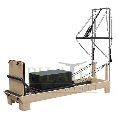 Pilates Reformer with half trapeze (with solid jump board, large sitting box and mat convert)