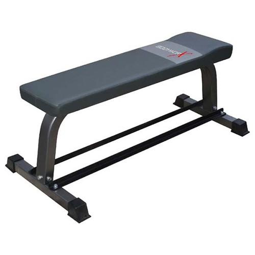 Bodyworx Flat Bench with Dumbell Rack