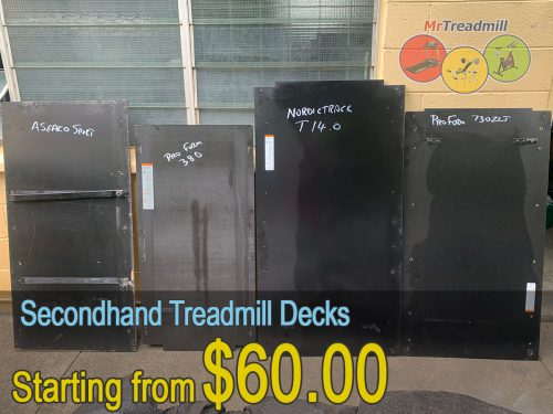 Secondhand treadmill decks