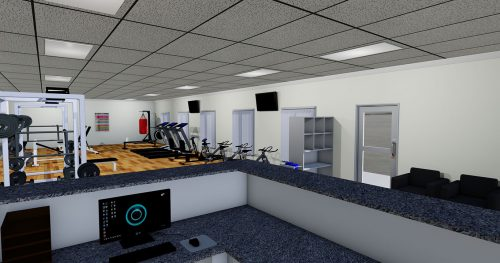 Gym layout example in 3D